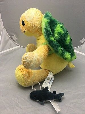Build A Bear Sea Turtle With Removable Shell And Bonus Fish! Voice Button! GUC