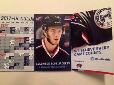 NHL schedule 2017-18 Columbus BlueJackets logo#10 Wennberg (Ohio Health)