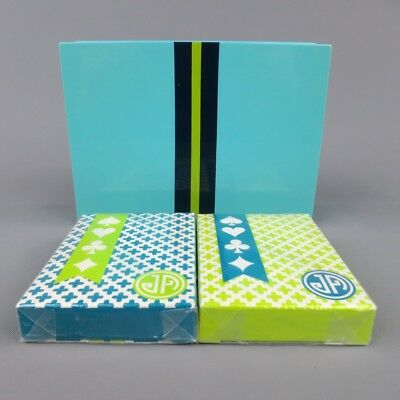JONATHAN ADLER Turquoise Playing Cards With Case