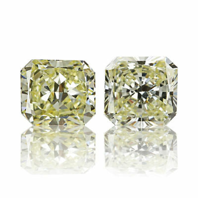 Yellow Pair Natural Diamond 0.51 Ct Fancy Color Radiant Cut Real Matching 2 St