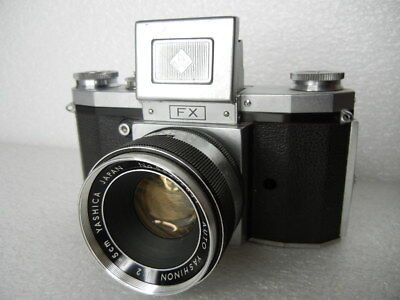 YASHICA FX 35MM SLR FILM CAMERA 50MM F.2 YASHINON LENS Early Vintage GERMANY