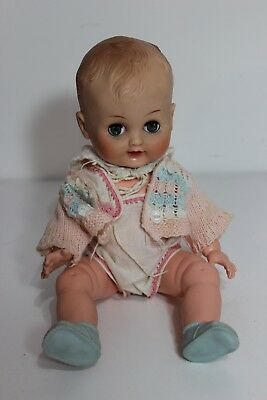 """Beautiful Horsman doll 13"""" so cute eyes open and close cloths shoes"""