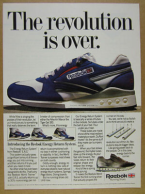 1988 Reebok World Trainer ERS System Running Shoes photo vintage print Ad