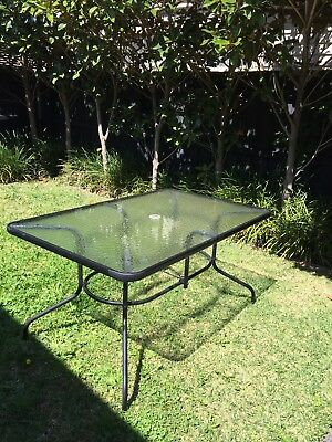 Attractive Outdoor Tempered Glass Table 1400cm X 900cm