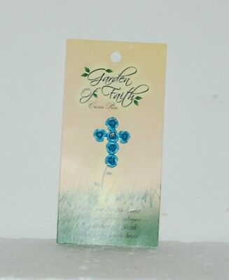 DM Merchandising Garden Of Faith Turquoise Colored Roses Pin