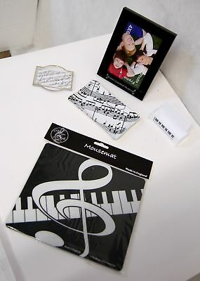 The Music Gifts Company Five Piece Set Black White Color