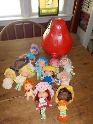 1970-80Vintage Strawberry Shortcake  Lot Dolls And Carry Case American Greeting