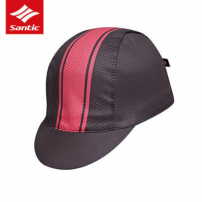 Santic Cycling Sporting Outdoor Riding Polyester Sun Cap Hat Gray Pink One Size