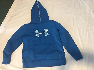 "UNDER ARMOUR ""STORM"" HOODED SWEATSHIRT. Youth large LOOSE FIT. BLUE LONG SLEEVE"