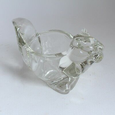Avon Glass Squirrel Candle Ornament Vintage Christmas
