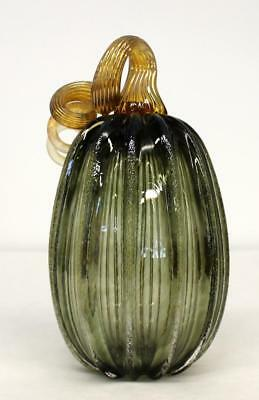 Hand Blown Glass Art Pumpkin Gourd Sculpture  8033  Oneil