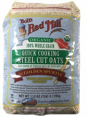 Bob's Red Mill Organic 100% Whole Grain Quick Cooking Steel Cut Oats 7 LB