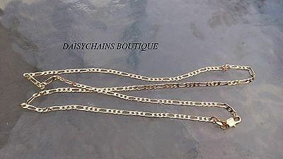 18 K Gold Filled Figaro Chain.2.5 Mm Wide.20 Inches Long.