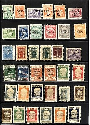 FIUME, Excellent Assortment of Stamps