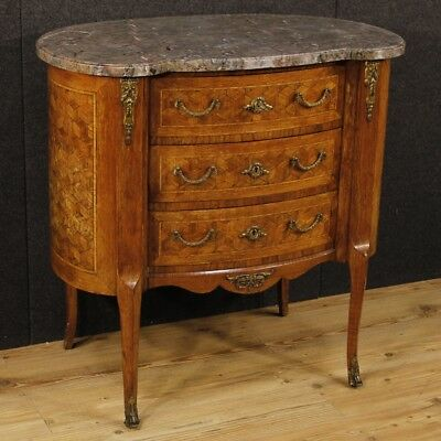 Dresser french inlaid furniture chest of drawers level marble antique style