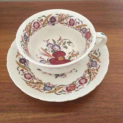Wedgwood Cornflower Of Etruria And Barloaron Tea Cup And Saucer