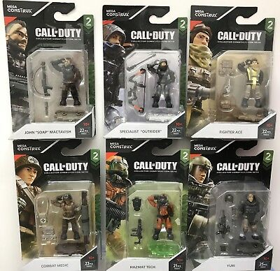 SET OF ALL 6 SERIES 2 SPECIALIST MINI-FIGURES Mega Construx Call of Duty FMG01
