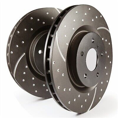 REAR EBC GD7121 3GD DRILLED /& SLOTTED SPORT BRAKE ROTORS