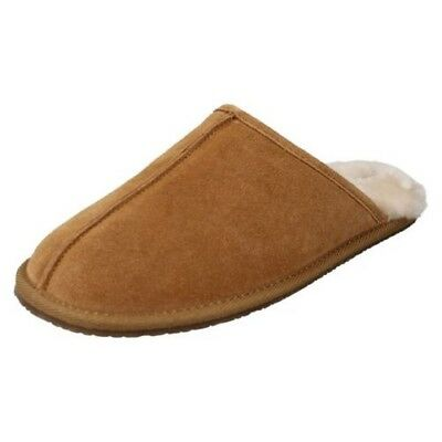Men's Clarks Casual Slip On Mule Slippers Label - Crackling Fire