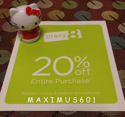 Crazy 8 20% Off Entire Purchase Expires 10/31/17