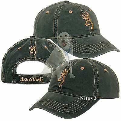 Browning Legacy Cap With Embroidered Logo Front & Back Men One size