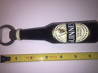 Guinness Bottle 6 Inch Opener Magnet Contains Liquid Extra Stout