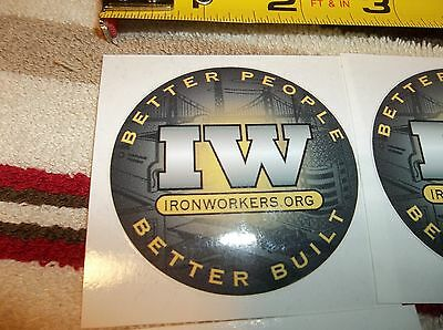 Union Ironworker Sticker - Better People Better Built - Nice New Release
