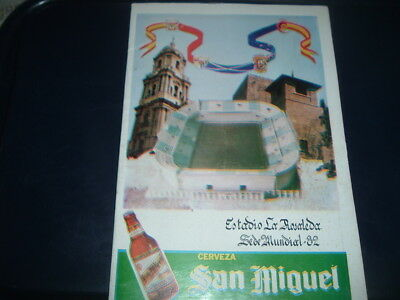 1982 World Cup Malaga issue Scotland USSR Russia New Zealand Brazil