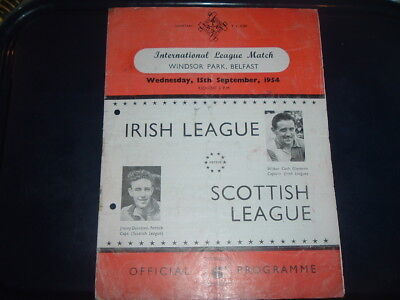Irish League v Scottish Scotland League Sept 1954