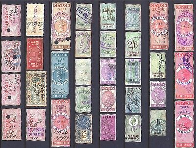 Revenue Stamps - A Selection From Various Countries - 33 Items - Interesting Lot