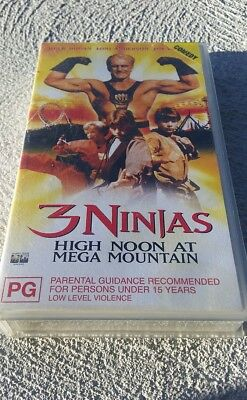 3 Ninjas High Noon At Mega Mountain - Hulk Hogan  -  Video Vhs Tape