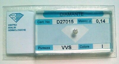Diamante naturale certificato in blister ct. 0.14 I VVS