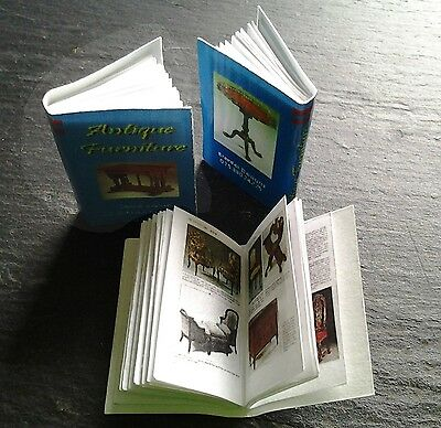 dolls house miniature real books ANTIQUE FURNITURE quality printing