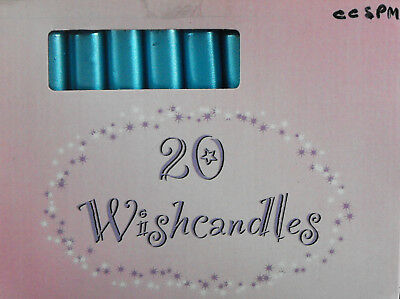 Wish Candles Metallic Blue For Peace & Hope & Better Future 1.5 Hours Burn Eac