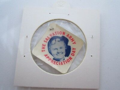 Salvation Army Appreciation Day Celluloid Badge Scarce In Fine Condition