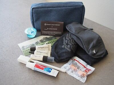 Cathay Pacific Business Class Travel Amenity Kit - Julique & 78 Percent Blue Bag