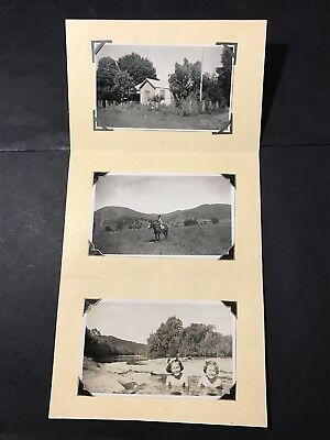 Vintage Folder Card with 3 Snapshots GREETINGS FROM MARG & JACK B&W Photos 1948