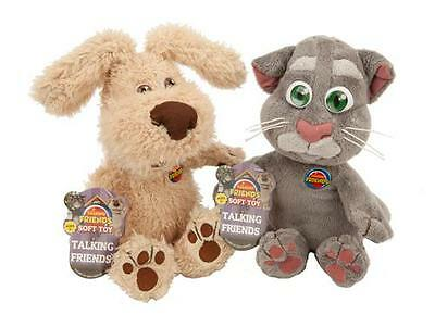"""30 cm (12"""") Talking Friends Tom and Ben Plush Toy with Sounds Complete Set"""