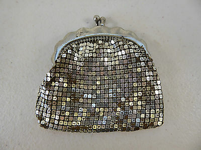 Vintage GLOMESH Silver Coin Purse Small