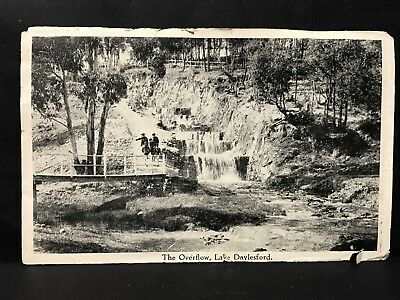 Vintage Photo Insert from Folder Postcard THE OVERFLOW, LAKE DAYLESFORD, VIC