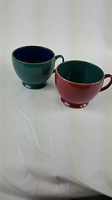 Denby Harlequin Large Teacups x 2