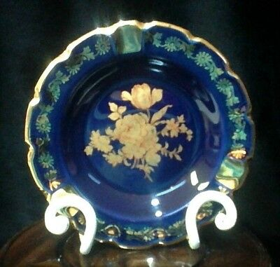 LIMOGES  Ashtray  *Gold Gilt Handpainted Roses*  Excellent Condition.