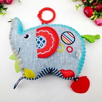 Baby Toddler Kid Child Fisher Price Rattle Crinkle Mirror Elephant Doll Toy