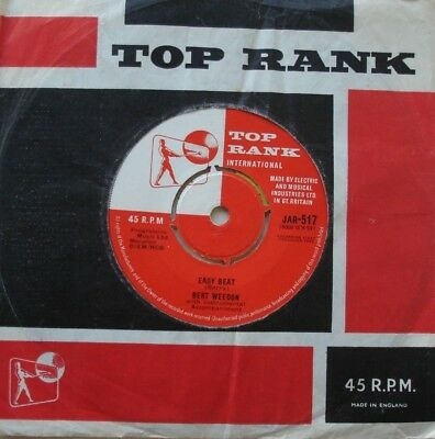 Bert Weedon, Easy Beat / Sorry Robbie, Top Rank, 7Inch