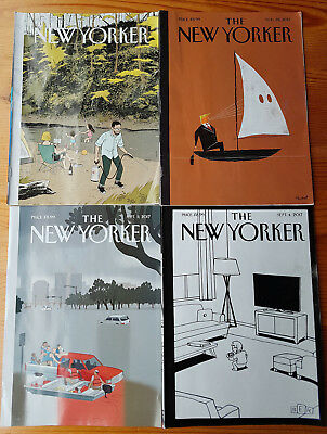 New Yorker Magazine - 4 issues (Aug.21 - Sept.11 2017)