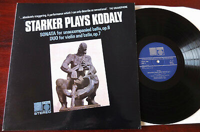 Starker Plays Kodaly Cello Lp Saga 5386 Nm- (1974) England