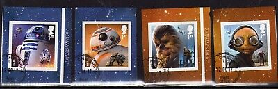 2017 - Starwars. Stamps from Booklet. VFU - CDS
