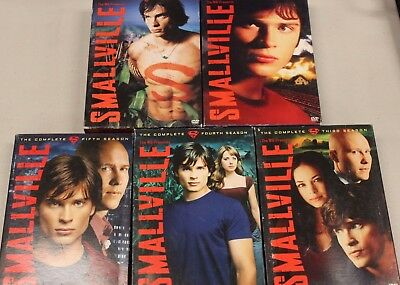 Smallville Seasons 1-5 DVD COMPLETE Series w/ Booklets