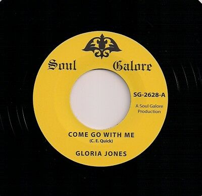 """Northern Soul 7"""" 45 - Gloria Jones - Come Go With Me / Tainted Love - Reissue"""