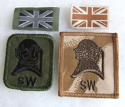 Brish Army Commando Royal Engineers Shallow Water Divers Od & Desert Arm Badges